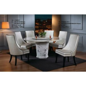 Dining Set- Marble (6 Seater)