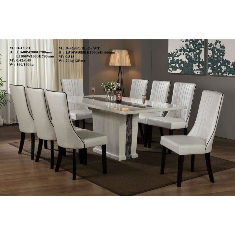 Dining Set- Marble (8 Seater)